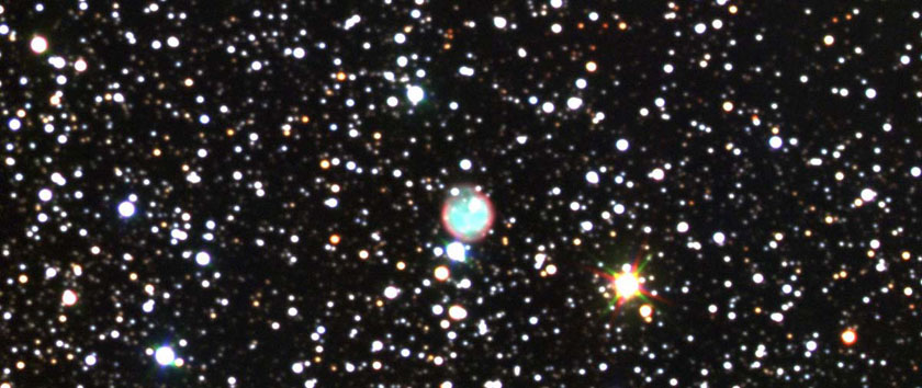 Planetary Nebula NGC 7048 in the rich star fields of the Milky Way